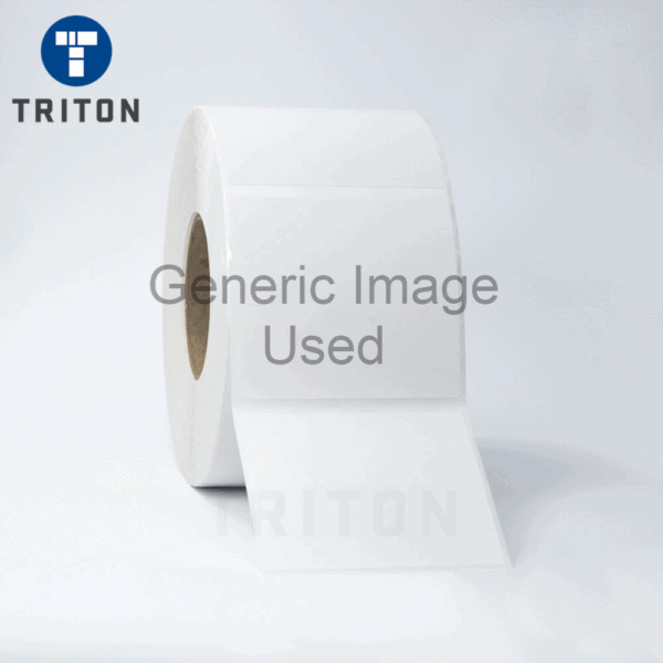 Thermal Carton Label 104x95 White, Security Cut, Varnished