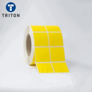 Thermal Label 50x50 2Up, Yellow, Freezer Adhesive