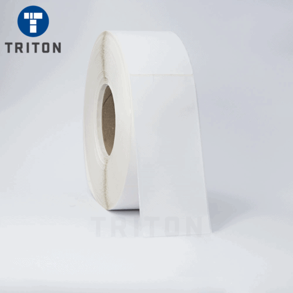 Thermal Carton Poly Label 70x170 White, Security Cut